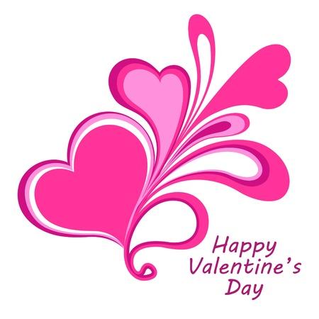 valentin: composition of hearts. Illustration