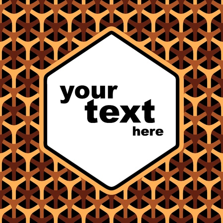 Completely seamless honeycomb pattern. Vector