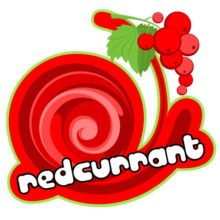 milky: Dessert redcurrant. Illustration
