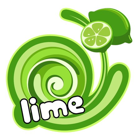 Lime label. Background for design of packing.  Ilustracja