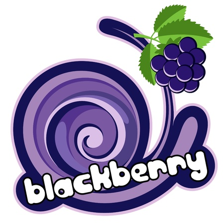 Blacberry ice cream. Background for design of packing.