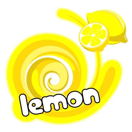 Lemon ice cream. Background for design of packing.