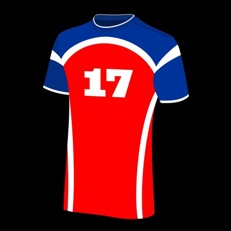 football jersey: T-shirt isolated.