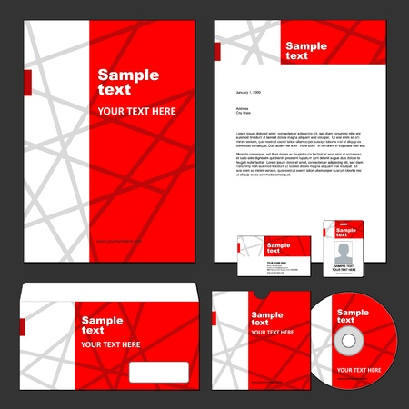 Set of corporate templates  Vector
