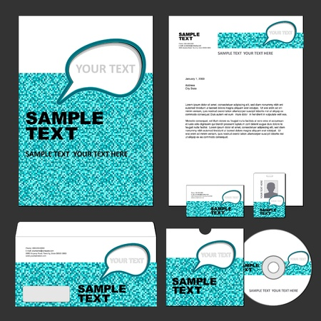 Business template Stock Vector - 12806891