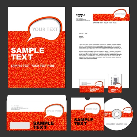 Business set of corporate templates  Vector illustration  Vectores