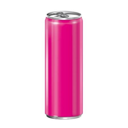 lata de refresco: Latas de aluminio en el fondo blanco