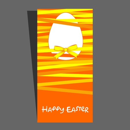 Easter egg with a bow  Vector