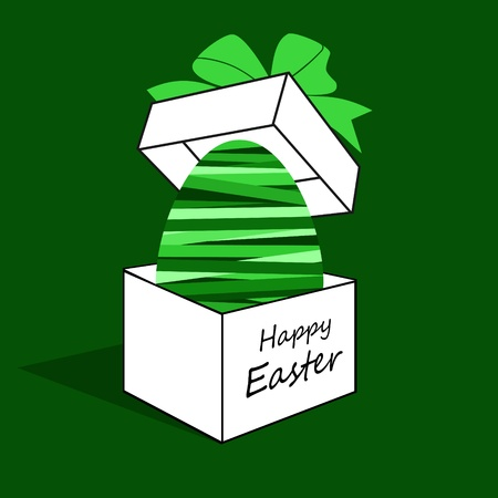 Easter egg in a box  Vector
