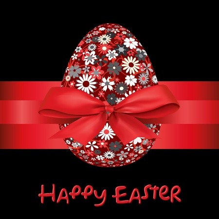 Easter egg with a bow