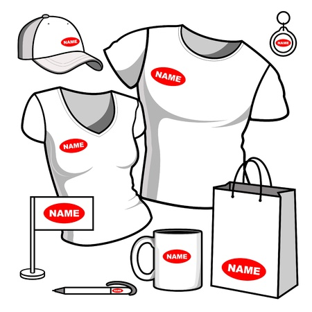 Business template  T-shirt men and women