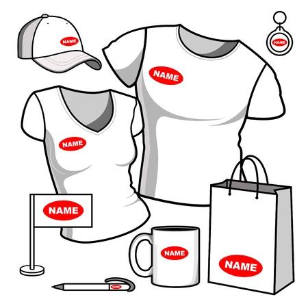 Business template  T-shirt men and women
