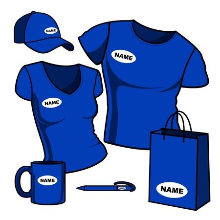 Business template  T-shirt men and women Stock Vector - 13376558