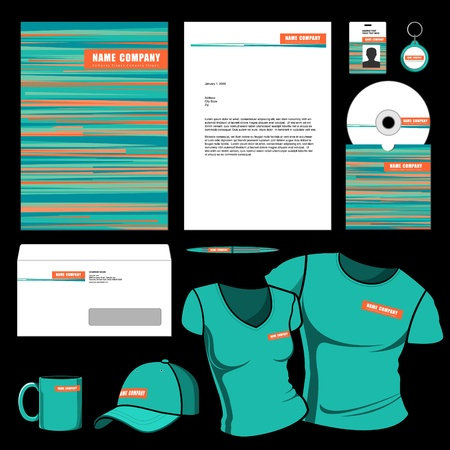 Template voor Business kunstwerken Vector