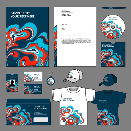 Business template  Illustration