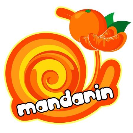 Mandarin background for design of packing  Vector illustration Stock Vector - 13526477