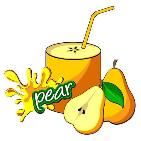 soda splash:  Pear juice bottle