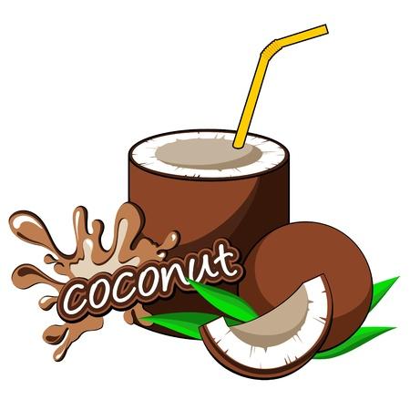 soda bottle: Coconut cocktail   Illustration