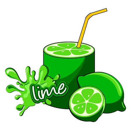 Lime juice bottle  Stock Vector - 17212124