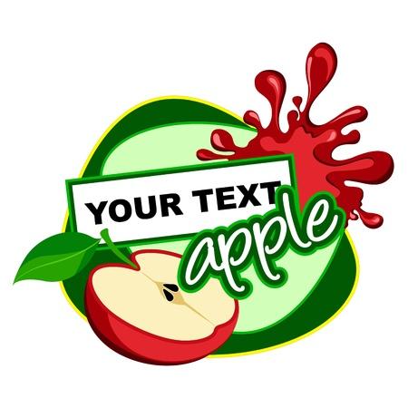 milky: red apple  Illustration