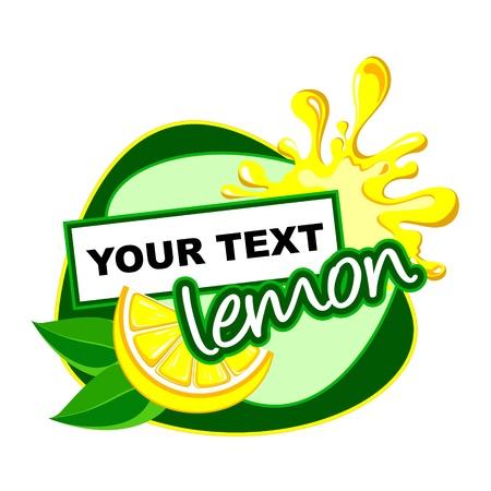 레몬: 레몬 라벨 desidn