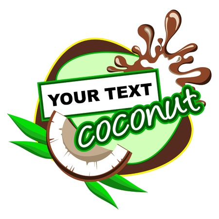 Coconut  Background for design of packing