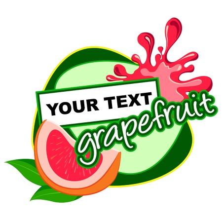 Grapefruit label desidn  Vector