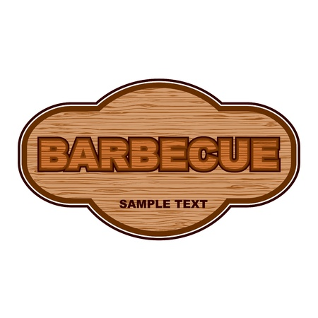Barbecue wooden board  Vector