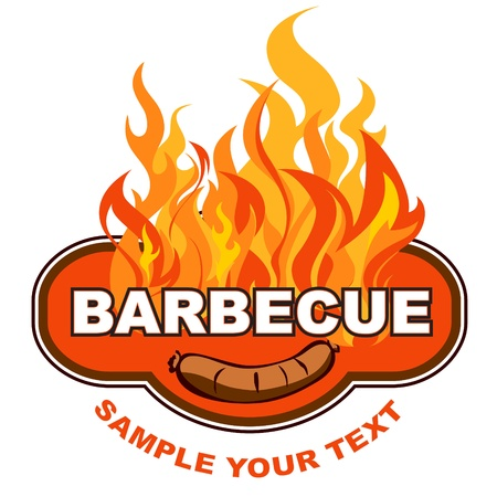Barbecue label Illustration