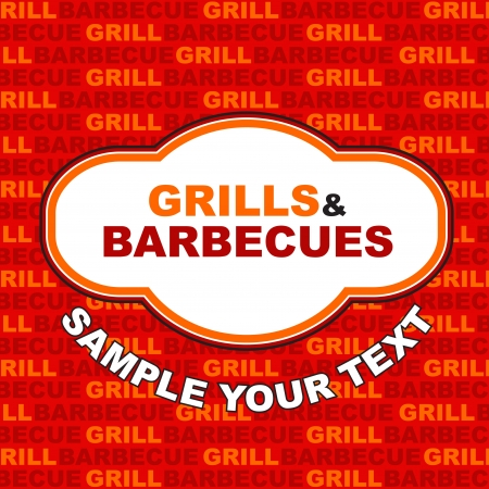 kebab: Barbecue and grill label design  Illustration