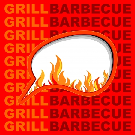 Barbecue and grill background  Vector