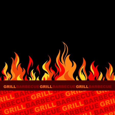 Grill and barbecue background design  Illustration
