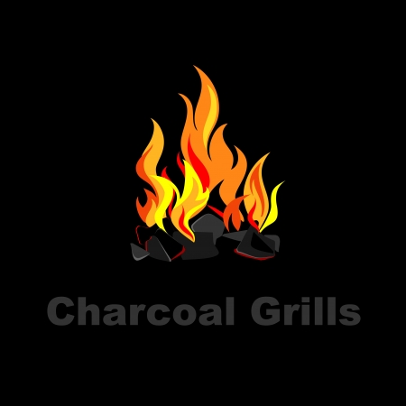 Charcoal grill  Vector