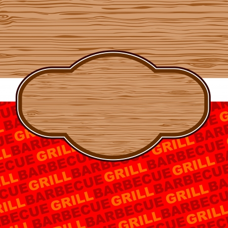 fastfood: Barbecue and grill background design  Illustration