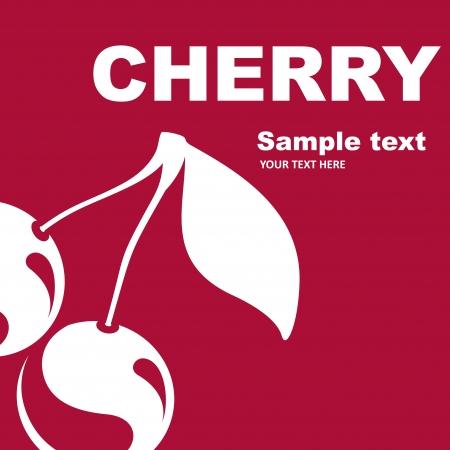 etiqueta: Cherry fruit label