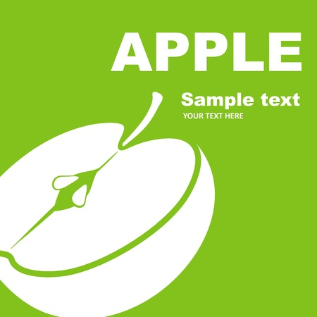 Apple fruitetiket Stock Illustratie