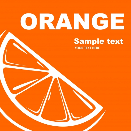 ORANGE Fruit label   Vector