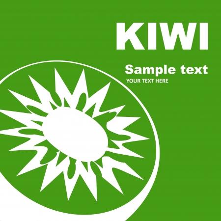 Kiwi label design Stock Vector - 13932175