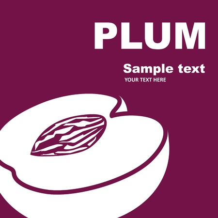 Fruit label  Plum  Background for design of packing Stock Vector - 13932174