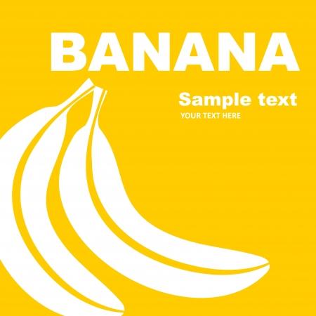 Fruit label Banana Achtergrond voor het ontwerp van de verpakking Stock Illustratie