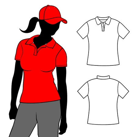 Woman t-shirts polo  Vector