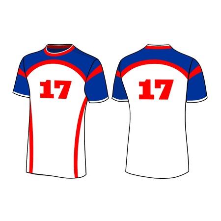 T-shirt sport ontwerpen Stock Illustratie
