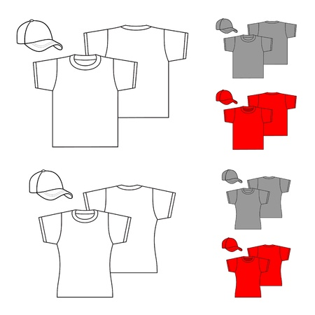 T-shirts for men and women  Vectores