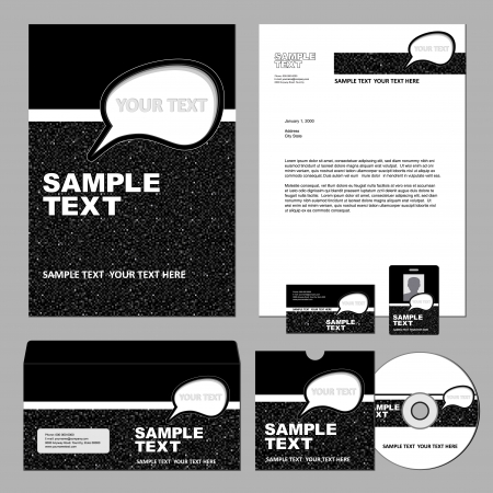presentation folder: Business template  Illustration