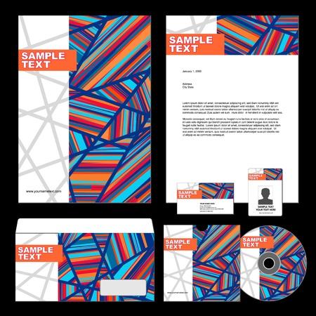 presentation folder: Template for Business artworks