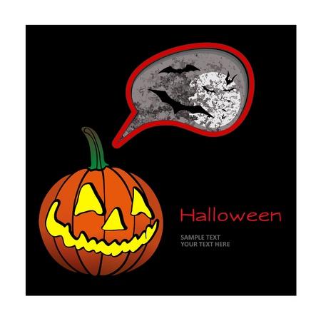 intertainment: Halloween pumpkin. Illustration