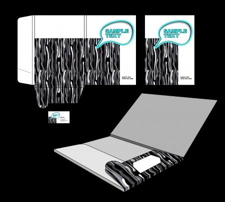 presentation folder: Folder design