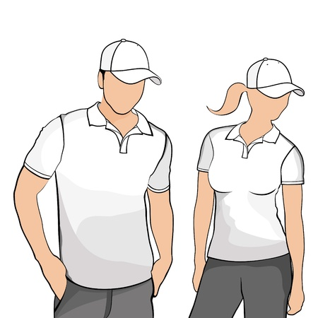 T-shirts men and women  Vector