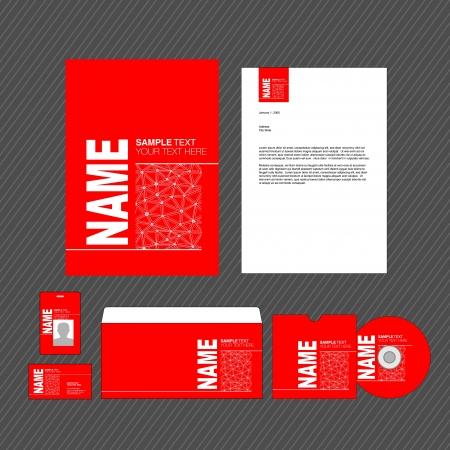 identity template Stock Vector - 16761873
