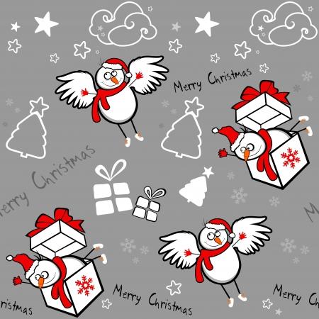 Christmas seamless background Stock Vector - 16761926